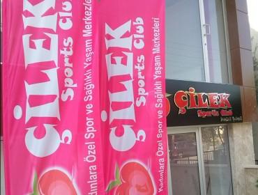 www.cilekspor.com olta bayrak flama denizli fitness woman flag