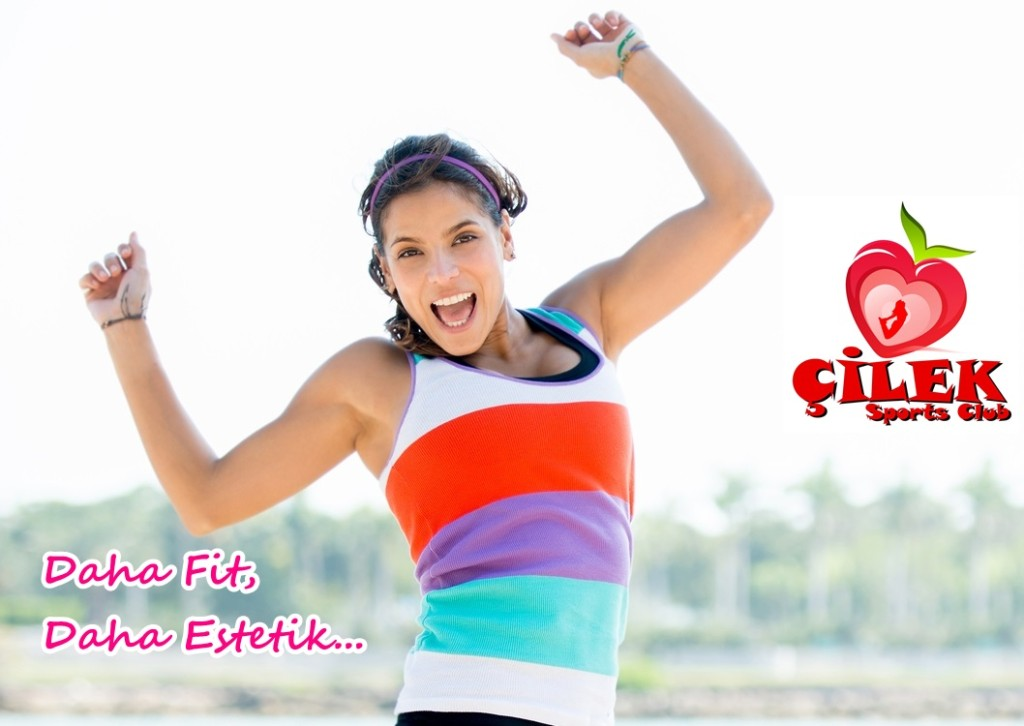 Happy fit woman jumping and loosing weight